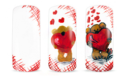 Teddy in love Nailart Anleitungen