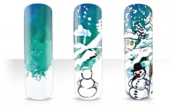 Winterlandschaft Nailartanleitung