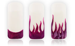 Flames Nailart