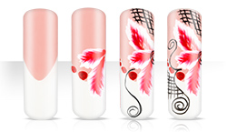 Lovely One Stroke Naildesign