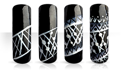 Black & White Naildesign Nailart Anleitung