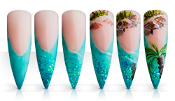 Südseezauber Stiletto Nailartanleitung