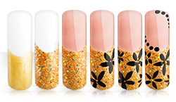 Twinkle Gold Flowers Nailart Anleitung
