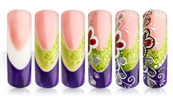 Sommerwiese Nailart Anleitung