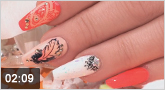 "Nailart: ""Nude Feather"""
