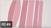Jolifin 10er Wechselfeilenblätter rosa