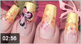 Nailart Pink Butterfly
