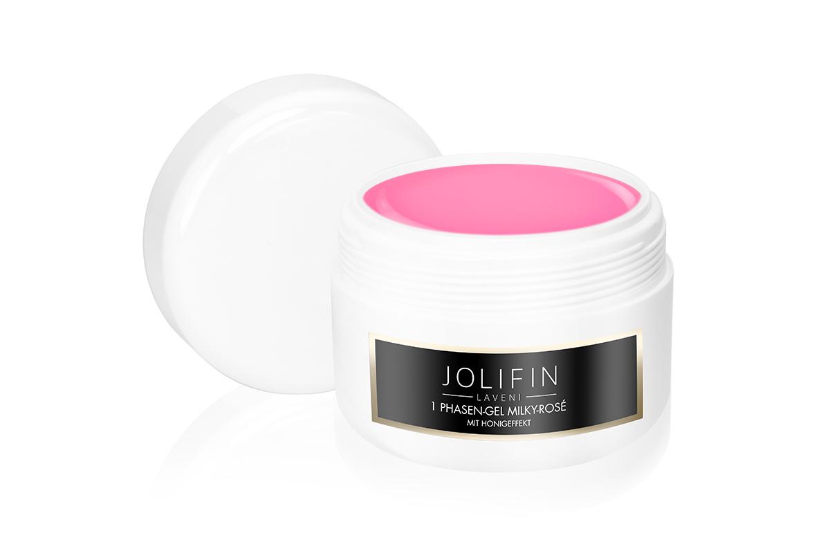 Jolifin LAVENI Refill - 1Phasen-Gel milky-rosé mit Honigeffekt 250ml