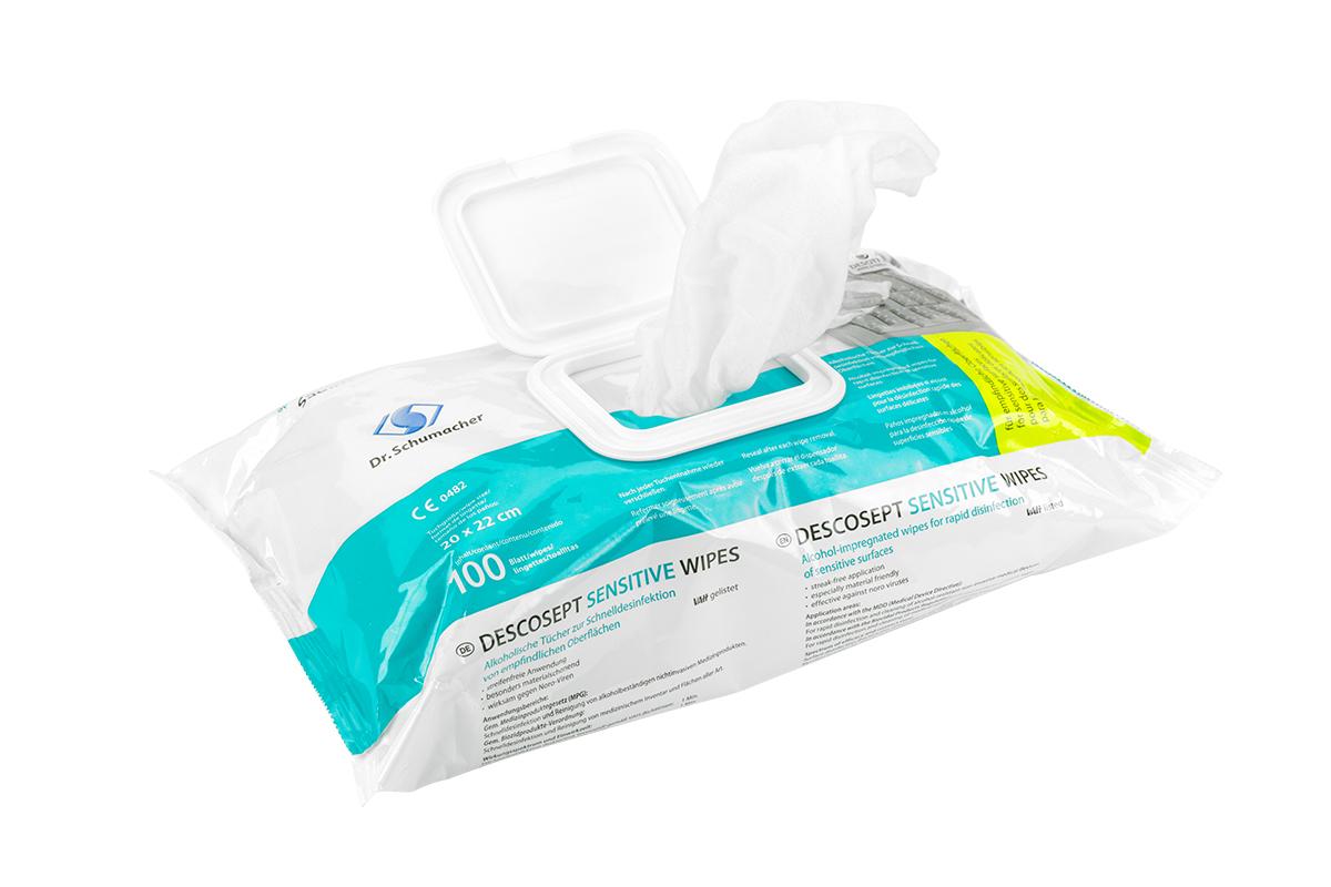 Descosept sensitive wipes - Flächendesinfektionstücher 100Stk