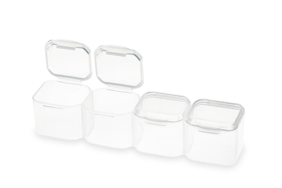 jolifin aufbewahrungsbox klar mit losen f chern pretty nail shop 24. Black Bedroom Furniture Sets. Home Design Ideas