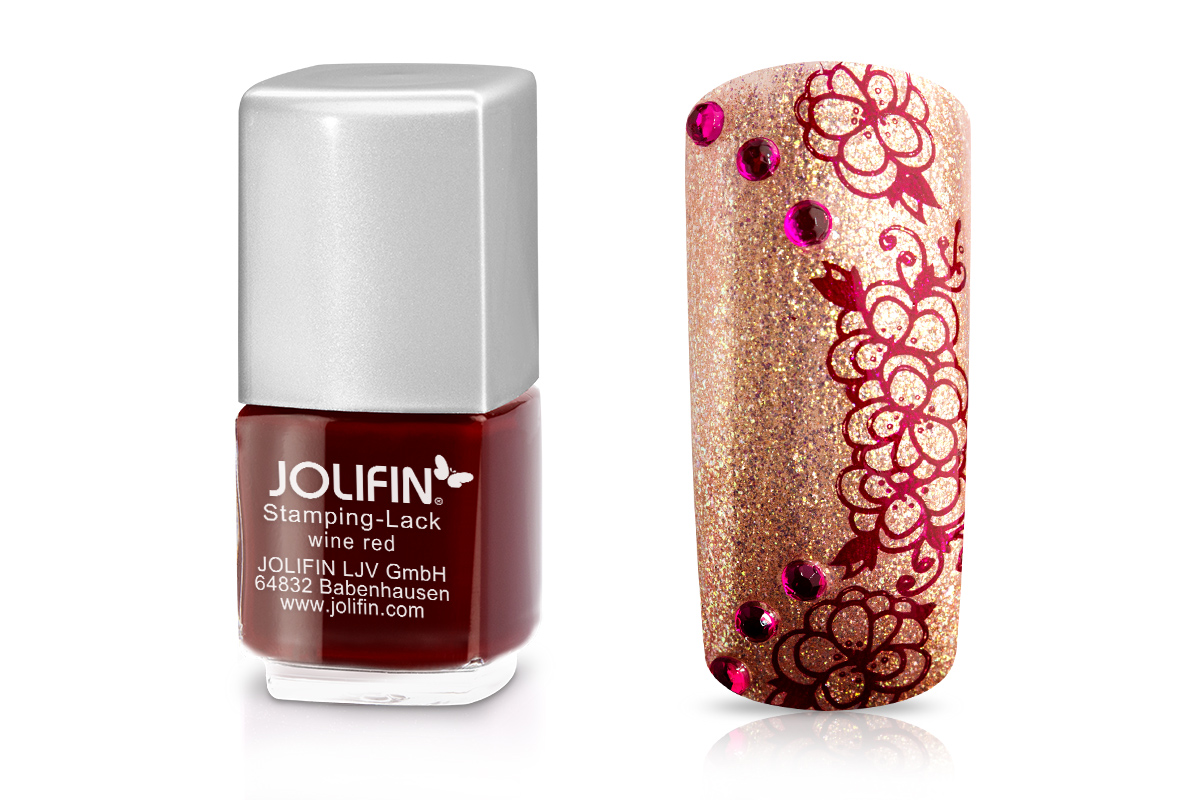 Jolifin Stamping-Lack - wine red 12ml