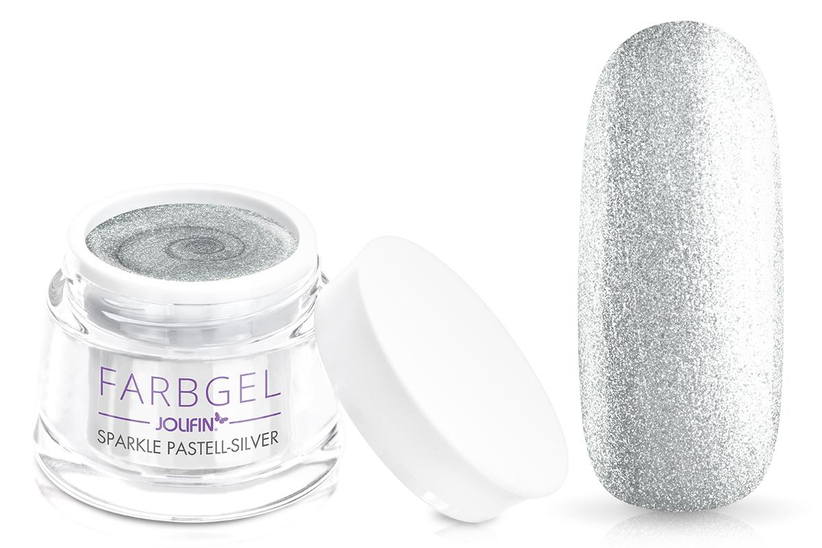 Jolifin Farbgel sparkle pastell-silver 5ml