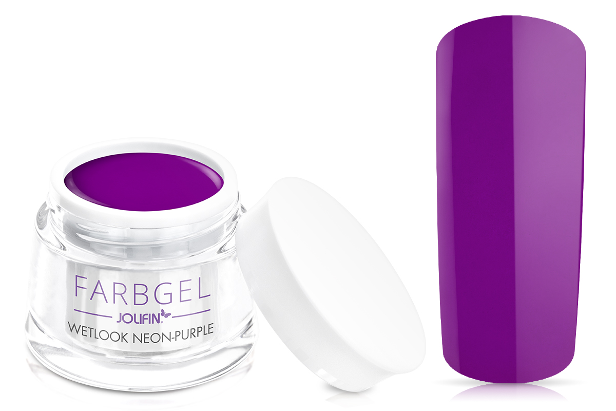 Jolifin Wetlook Farbgel neon-purple 5ml