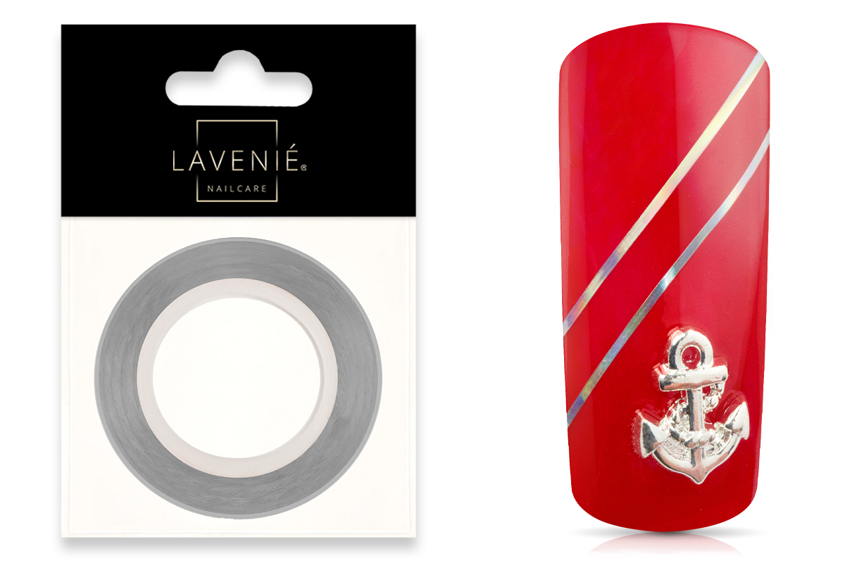Jolifin LAVENI Pinstripes rainbow silver - 0,5mm