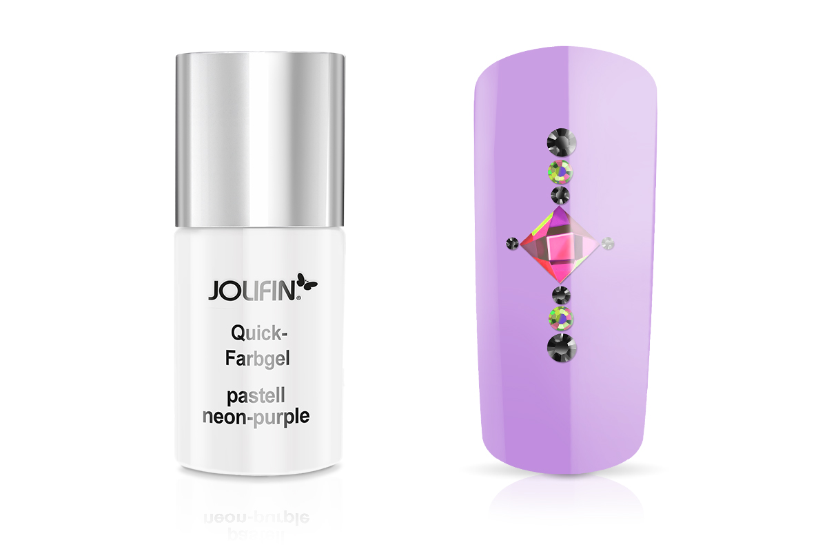 Jolifin Carbon Quick-Farbgel pastell neon-purple 11ml