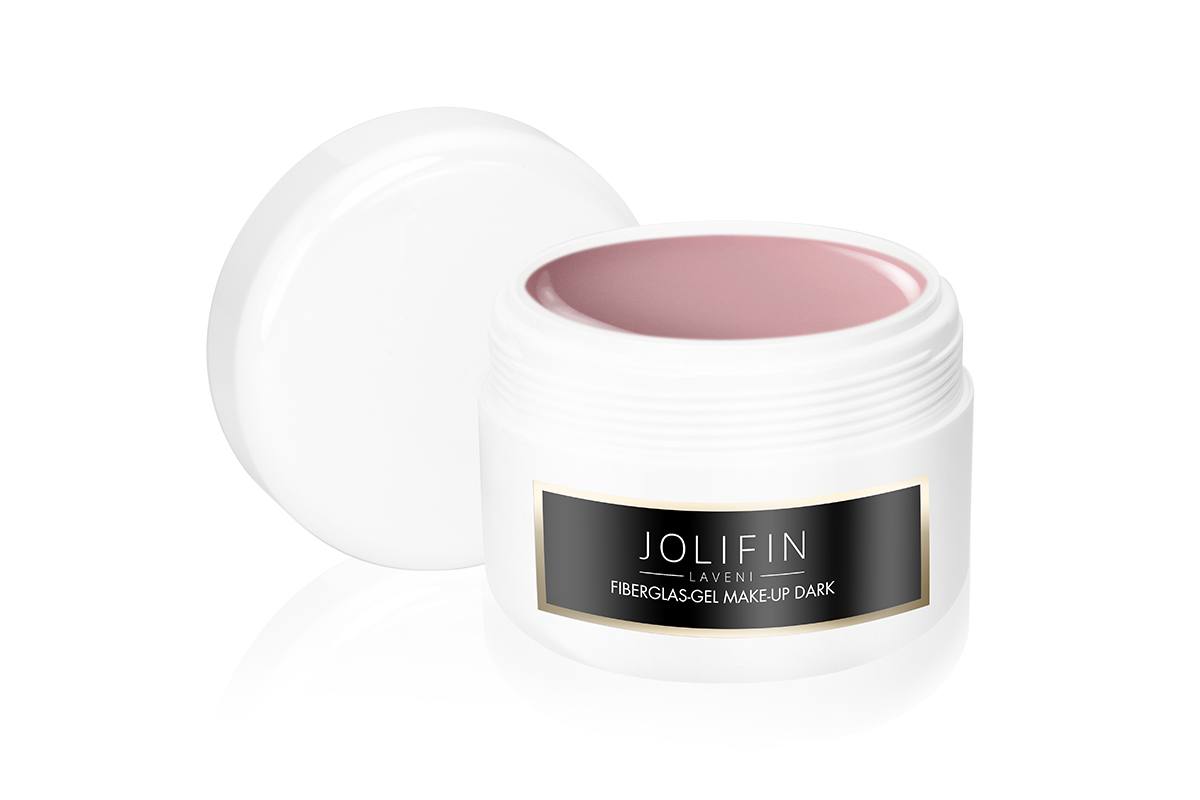 Fiberglas-Gel make-up dark 250ml - Jolifin LAVENI