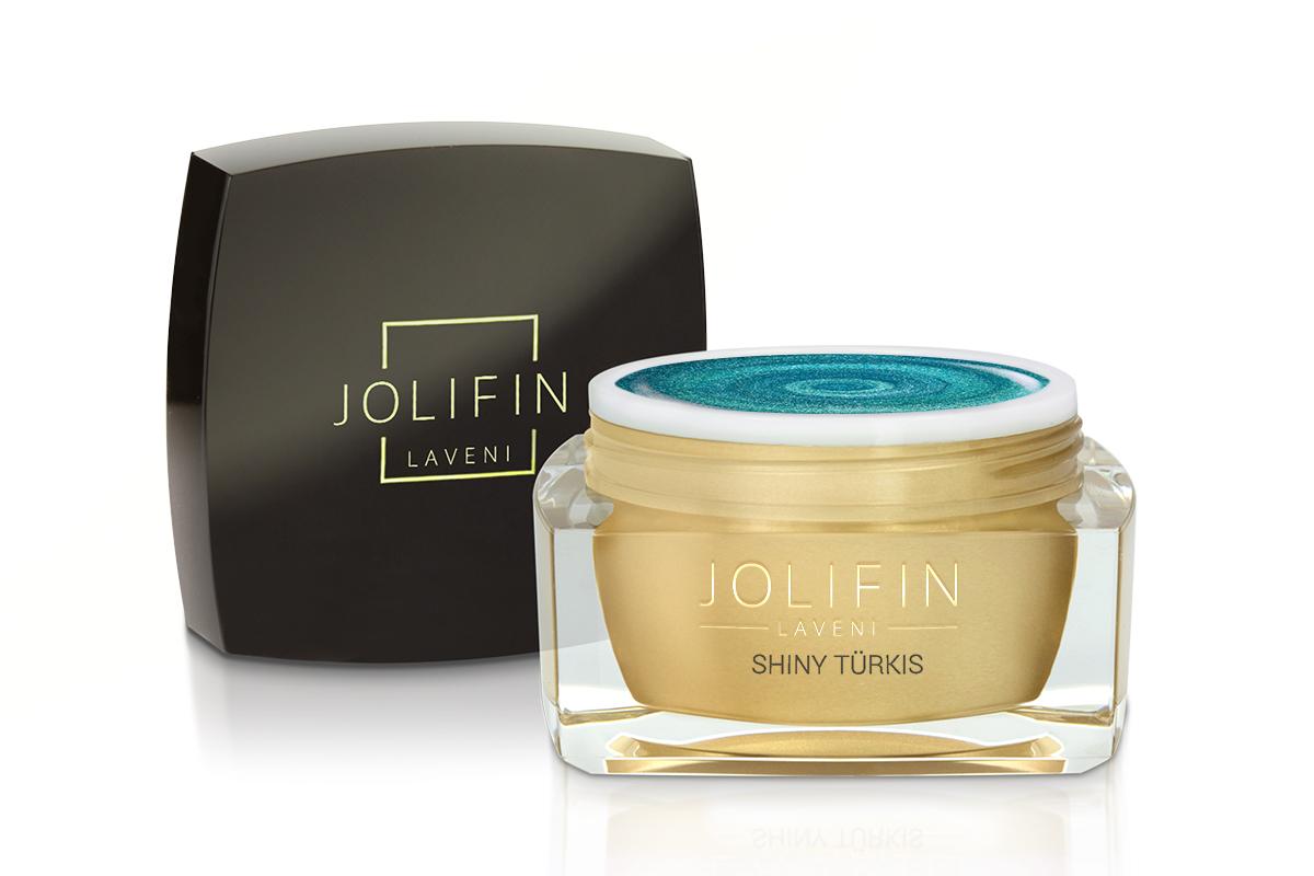 Jolifin LAVENI Farbgel - shiny türkis 5ml
