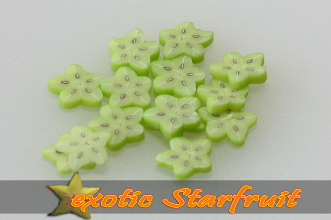 Fimo Frootys - exotic Starfruit