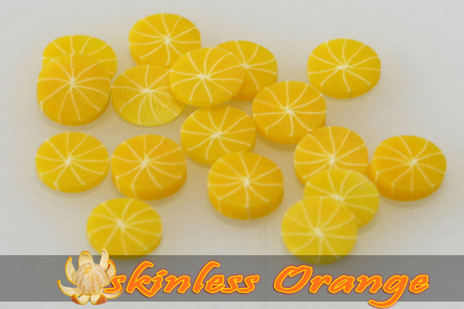 Fimo Frootys - skinless Orange