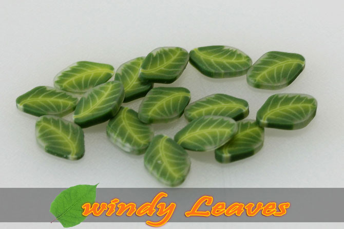 Fimo Frootys - windy Leaves