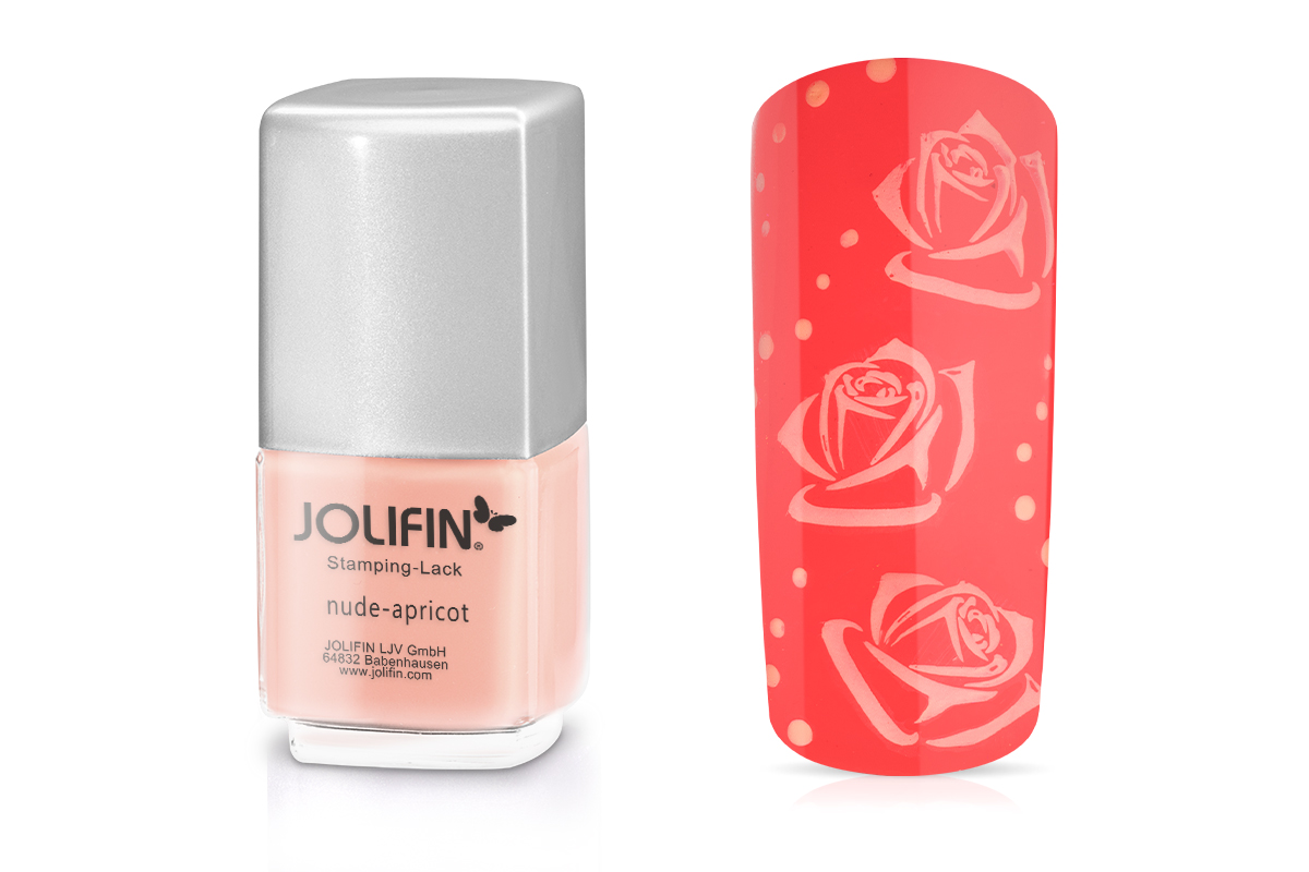 Jolifin Stamping-Lack - nude-apricot 12ml