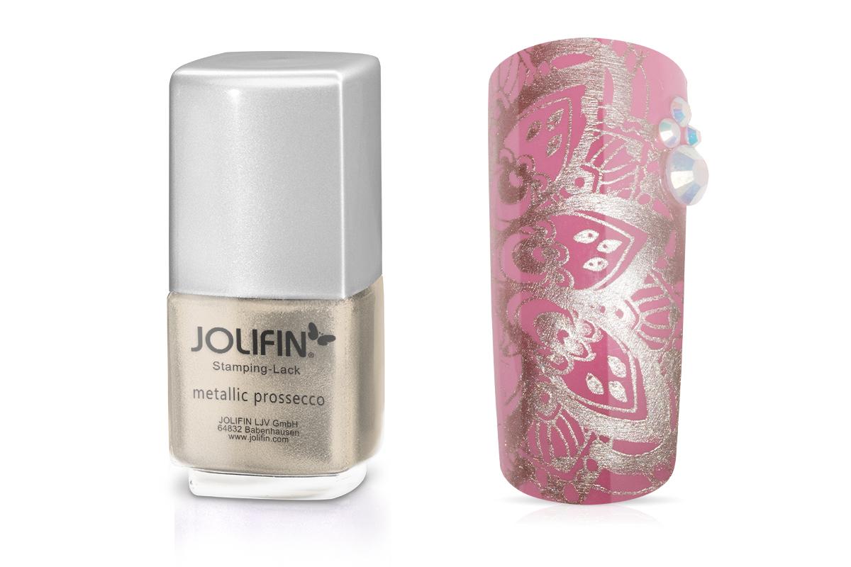 Jolifin Stamping-Lack - metallic prossecco 12ml