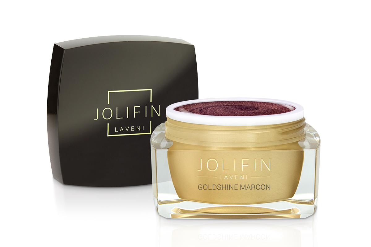 Jolifin LAVENI Farbgel - goldshine maroon 5ml