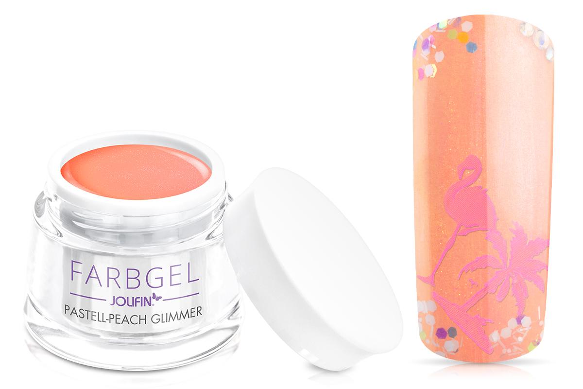 Jolifin Farbgel pastell-peach Glimmer 5ml