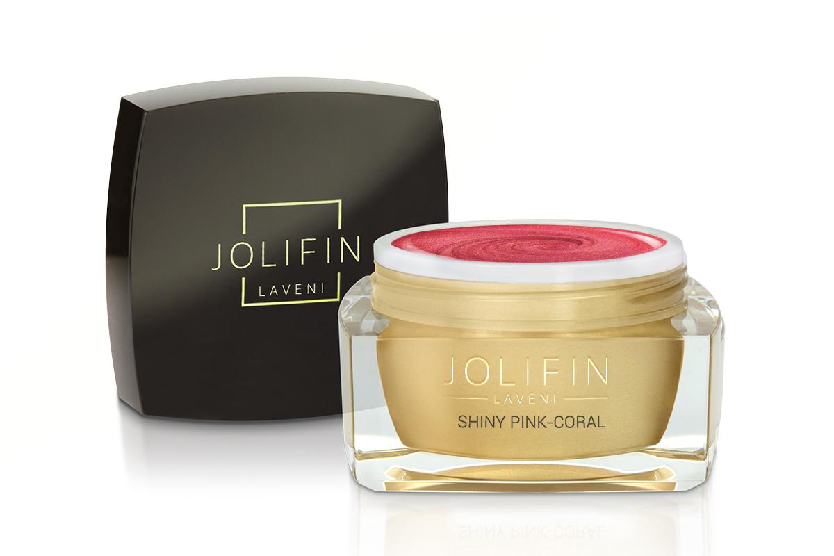Jolifin LAVENI Farbgel - shiny pink-coral 5ml