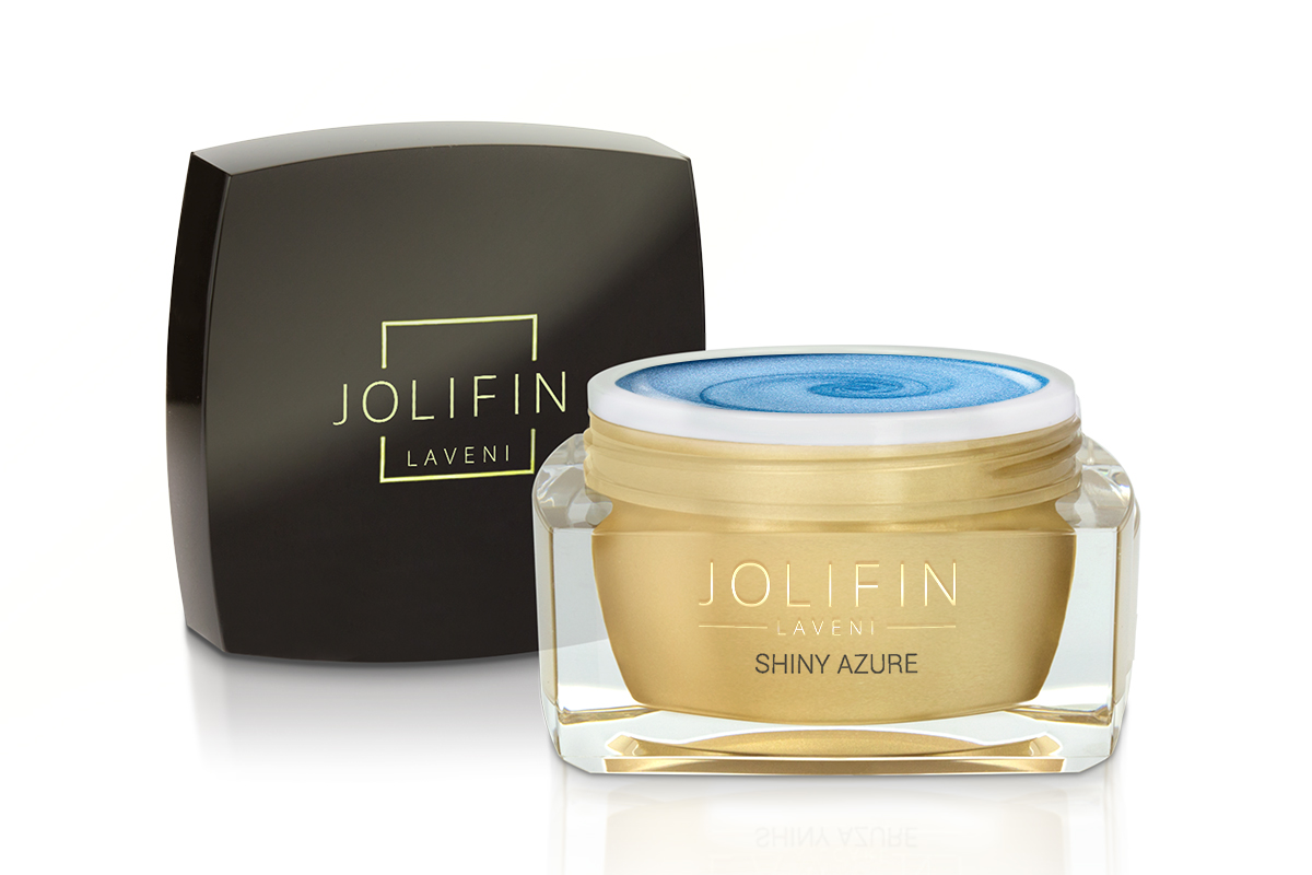Jolifin LAVENI Farbgel - shiny azure 5ml