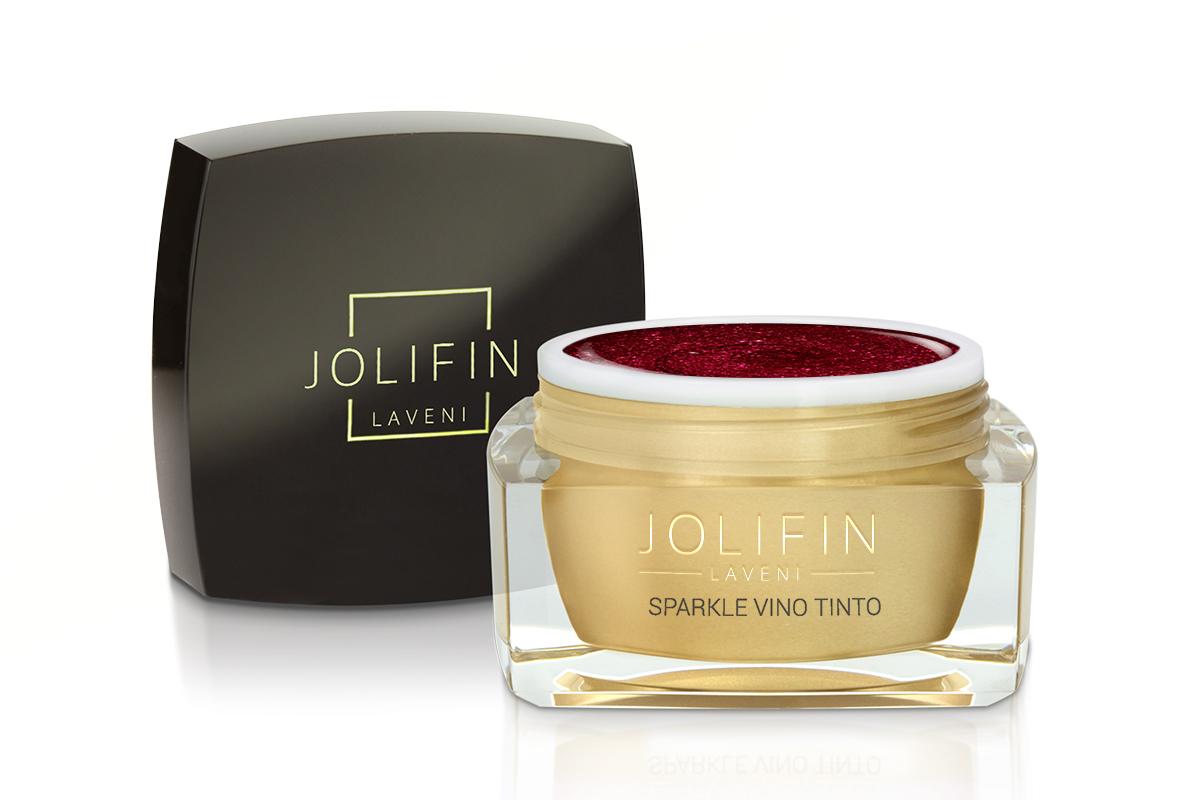 Jolifin LAVENI Farbgel - sparkle vino tinto 5ml