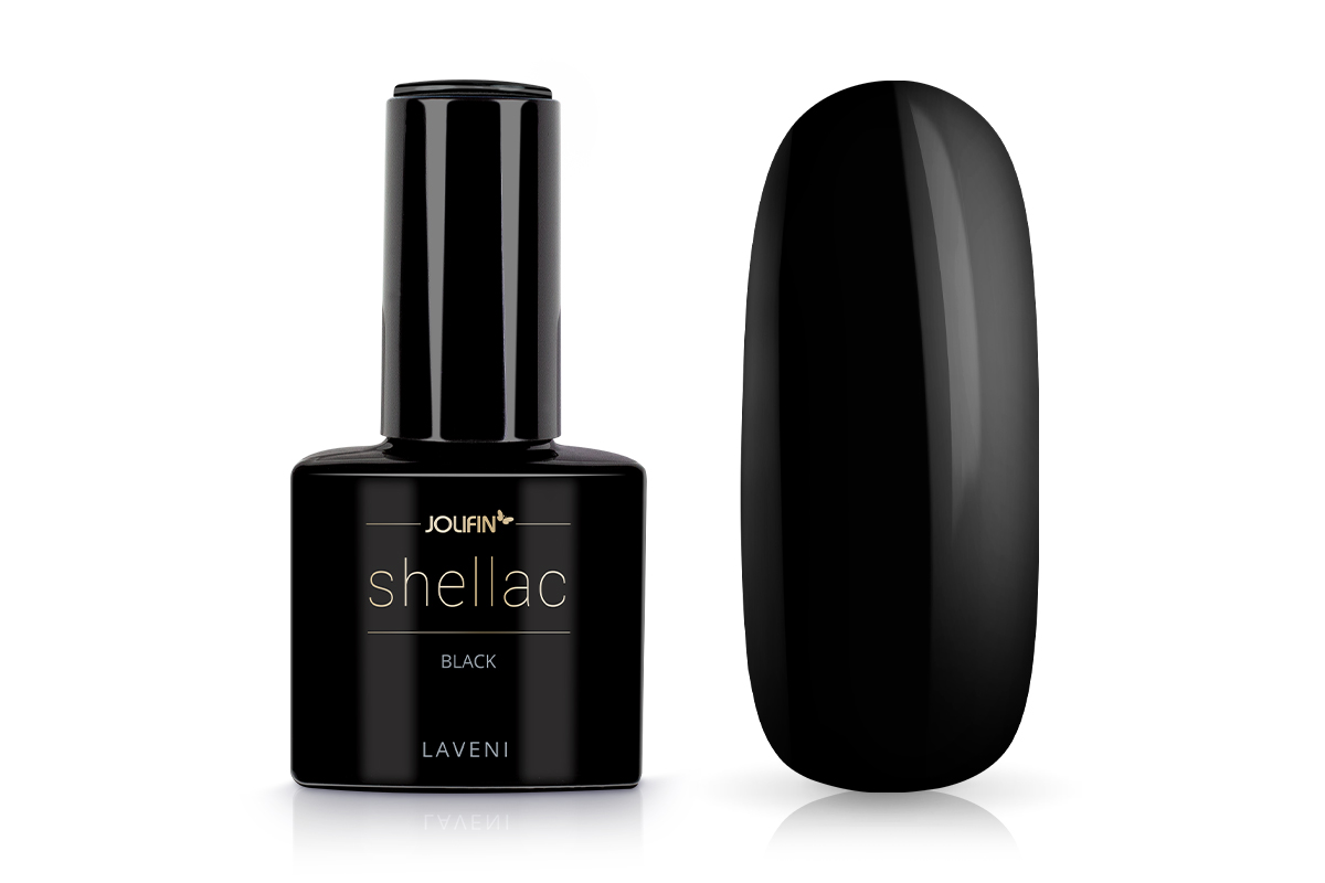Jolifin LAVENI Shellac - black 12ml
