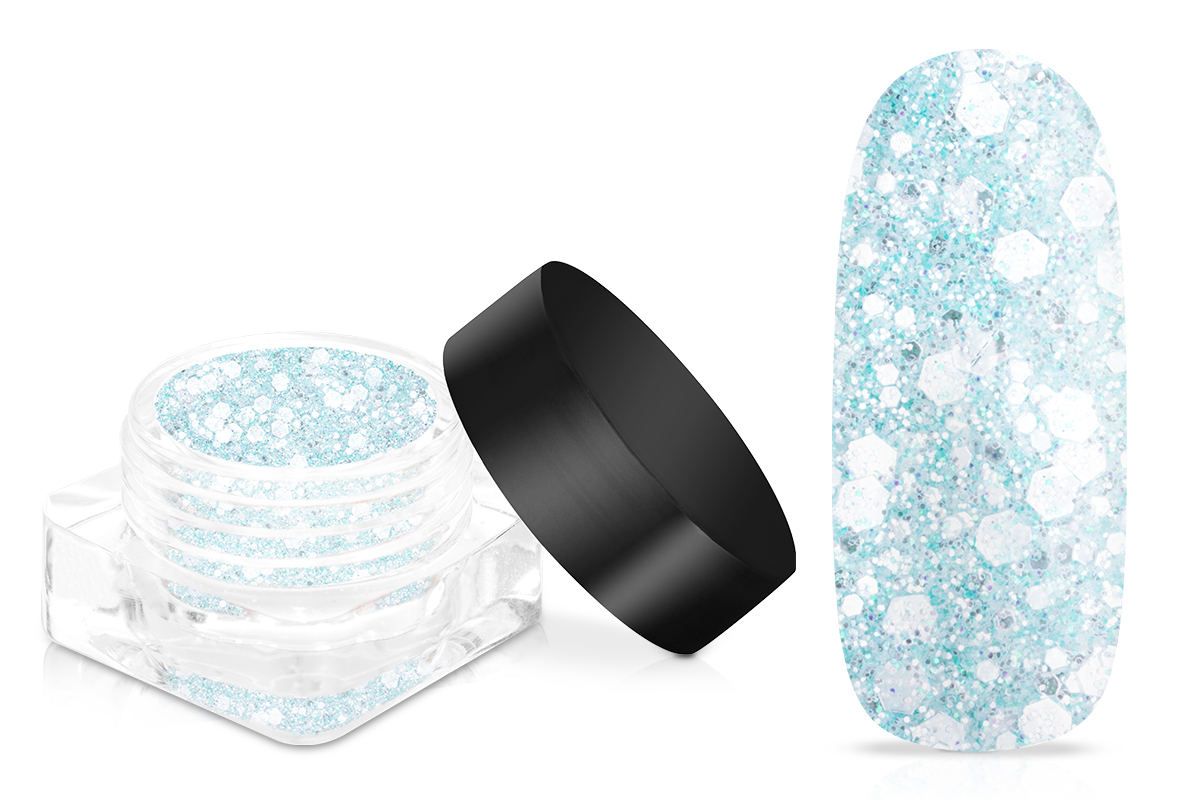 Jolifin LAVENI Crystal Glitter - icy blue