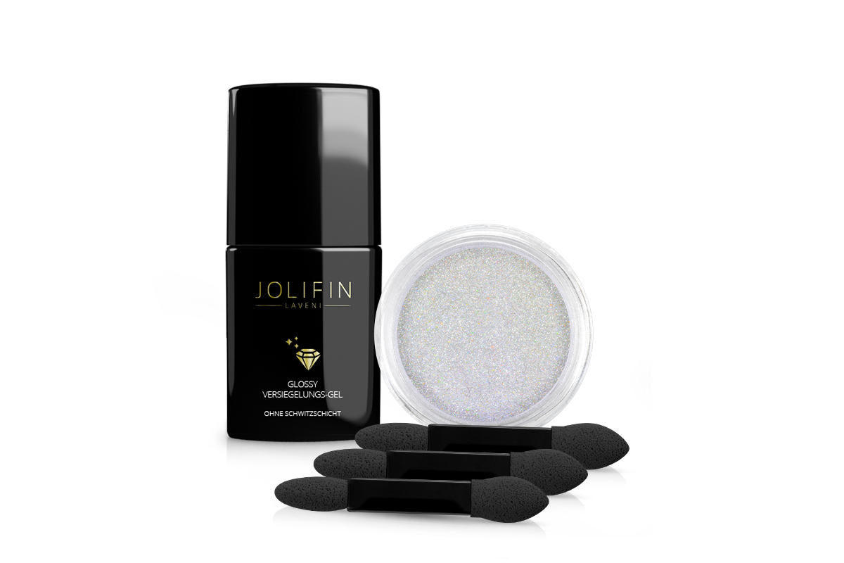 Jolifin Pearl-Chrome Pigment Set - white