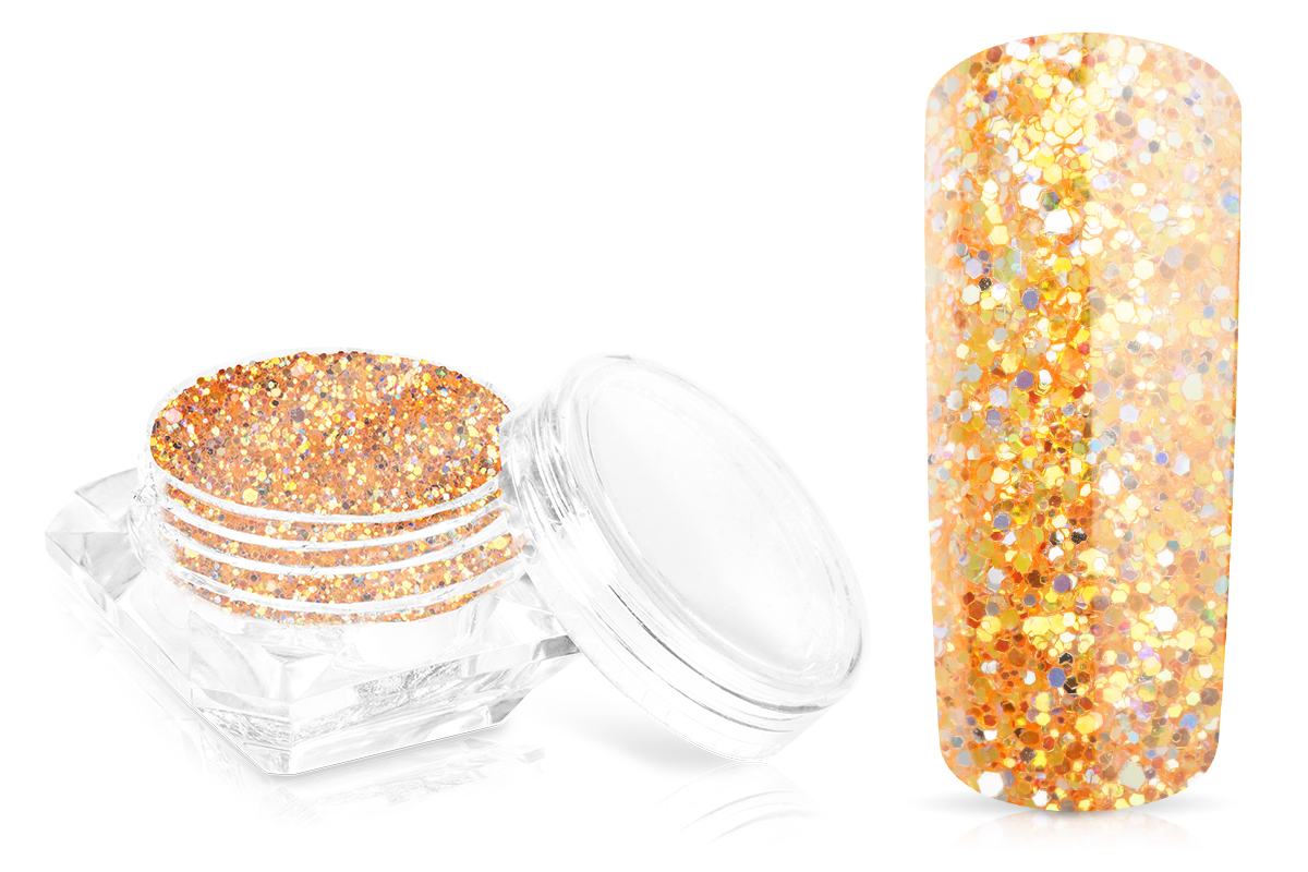 Jolifin Glossy Glitter - orange