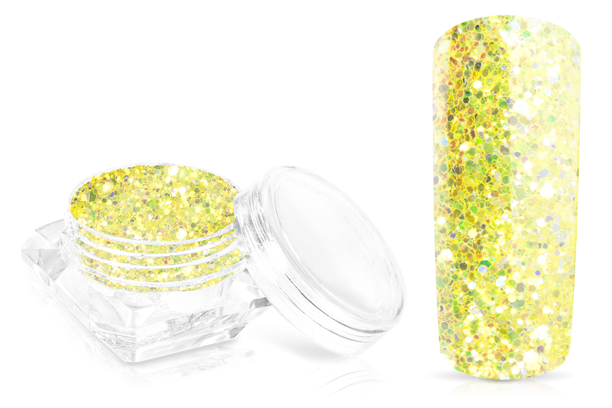 Jolifin Glossy Glitter - lemon yellow