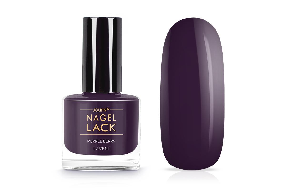 Jolifin LAVENI Nagellack - purple berry 9ml