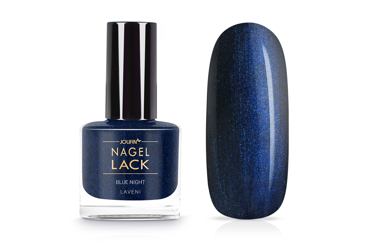 Jolifin LAVENI Nagellack - blue night 9ml
