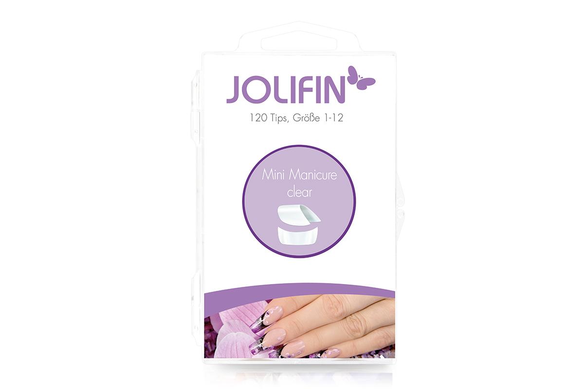 Jolifin 120er Tipbox mini manicure - clear