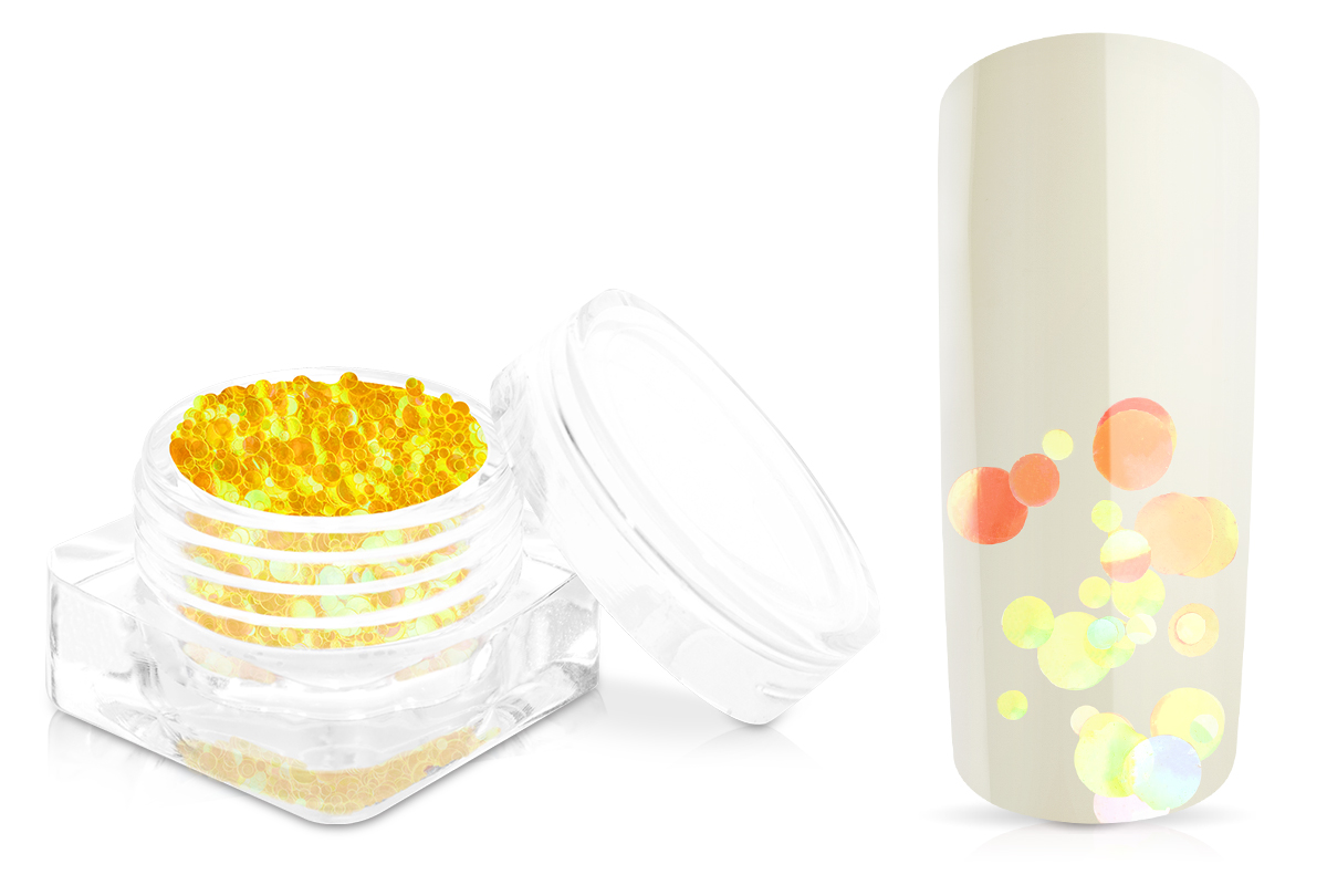 Jolifin Bubble Glitter - yellow