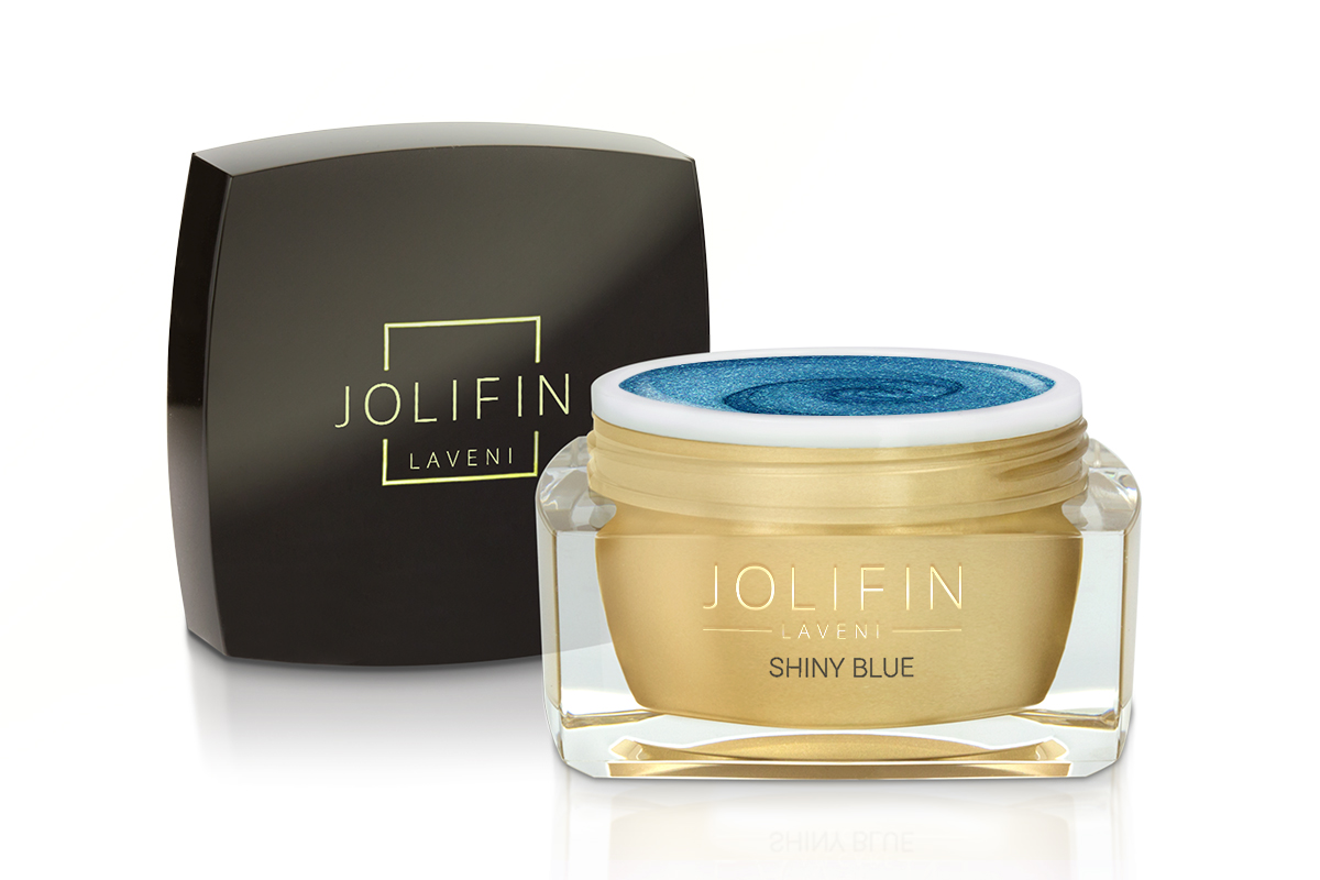 Jolifin LAVENI Farbgel - shiny blue 5ml