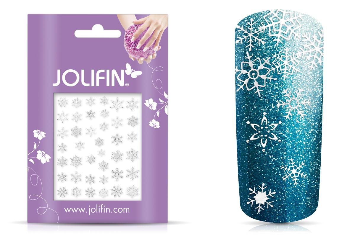 Jolifin Sticker Schneeflocke - silber