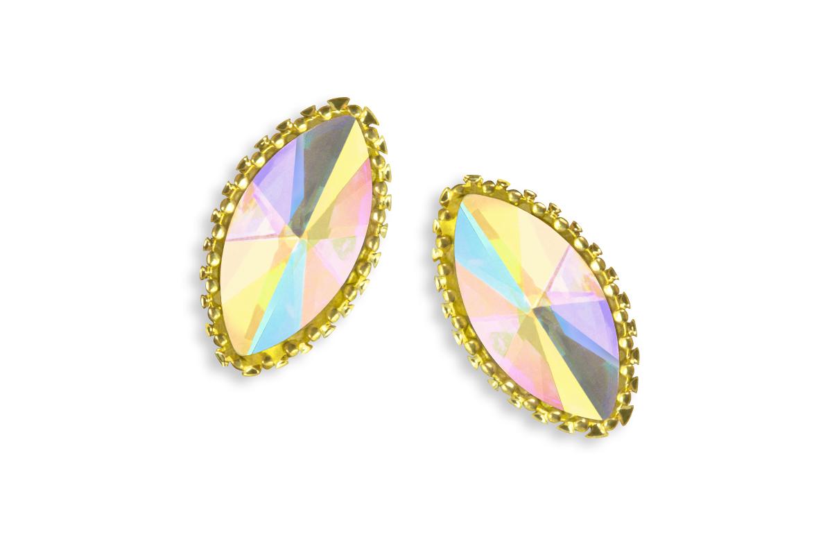 Jolifin LAVENI Strass-Diamond - Cat-Eye gold
