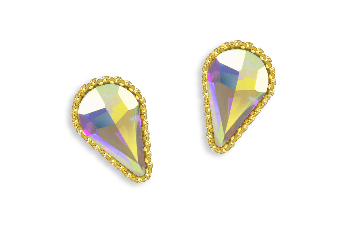 Jolifin LAVENI Strass-Diamond - Long Drop gold
