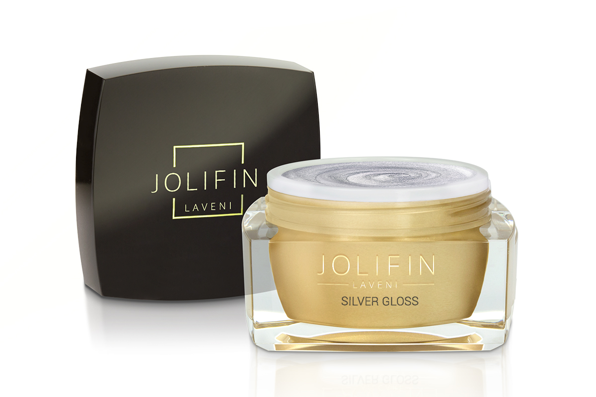 Jolifin LAVENI Farbgel - silver gloss 5ml