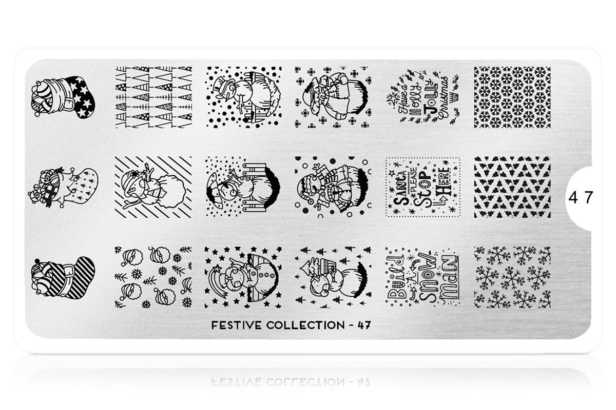 MoYou-London Schablone Festive Collection 47