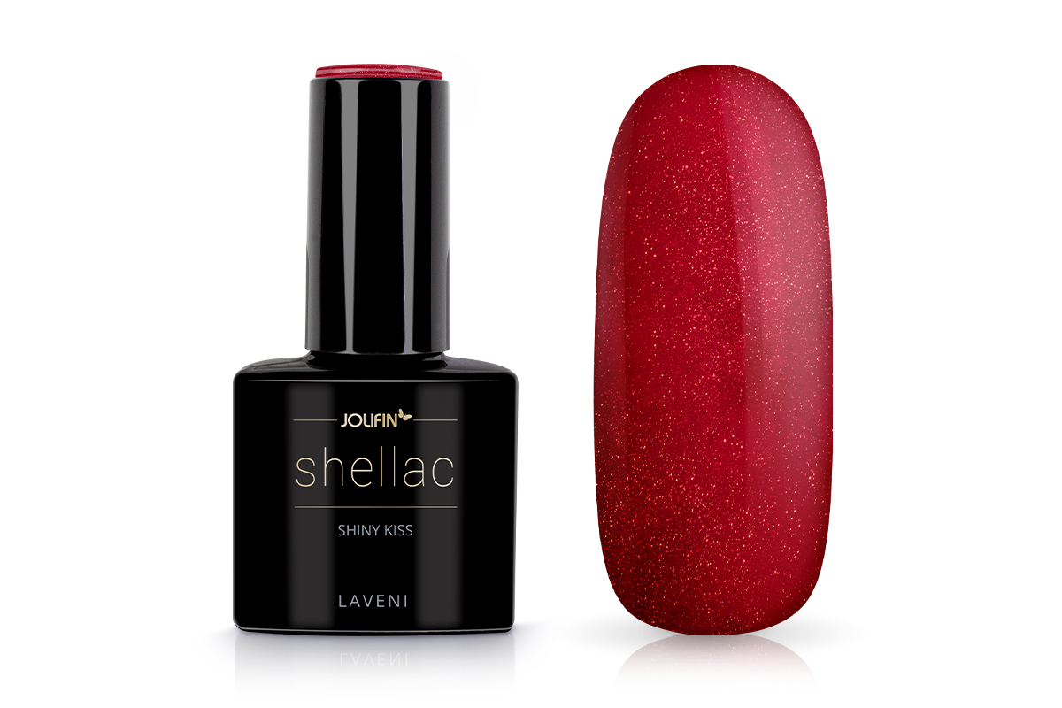Jolifin LAVENI Shellac - shiny kiss 12ml