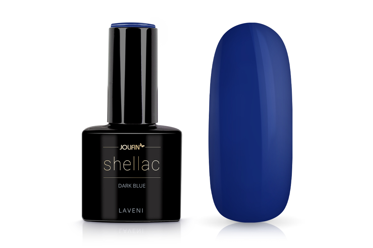 Jolifin LAVENI Shellac - dark blue 12ml