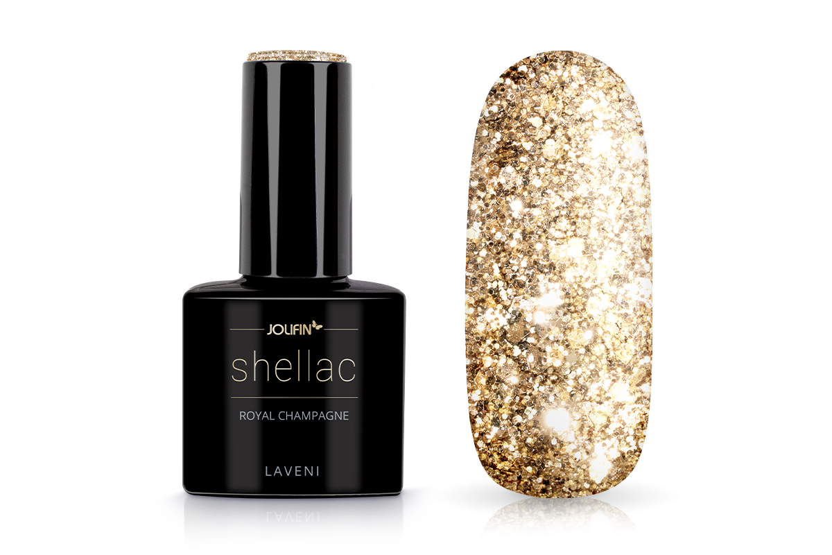 Jolifin LAVENI Shellac - royal champagne 12ml