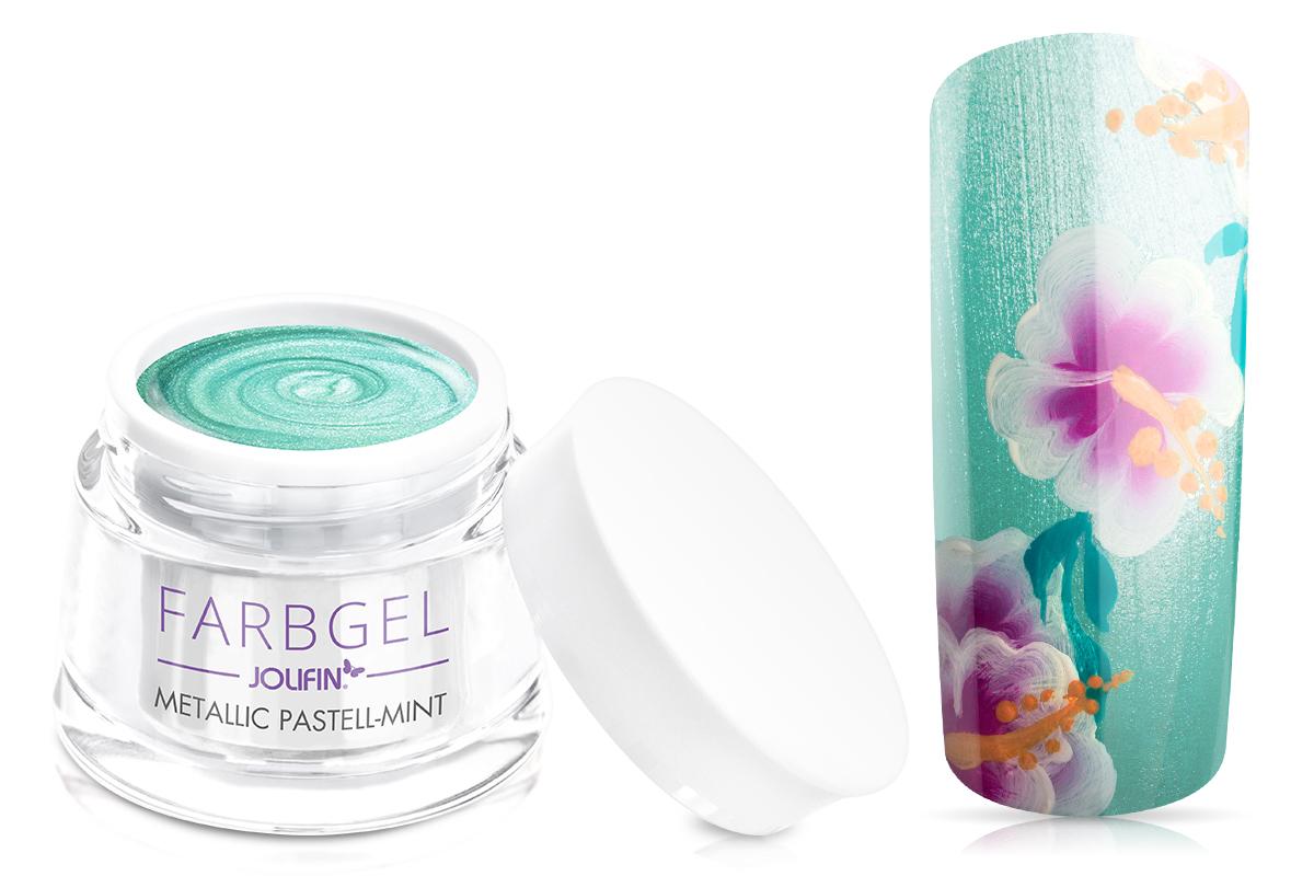 Jolifin Farbgel metallic pastell-mint 5ml